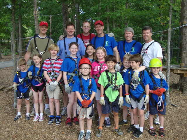 The Dads' Bucket List  crew for the Treetop Quest experience