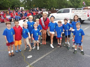 The kids living large with Miss Teen Georgia