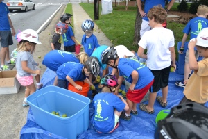 Kids were geared up and taking action