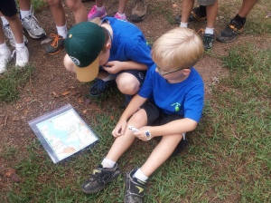 A couple of budding Orienteers