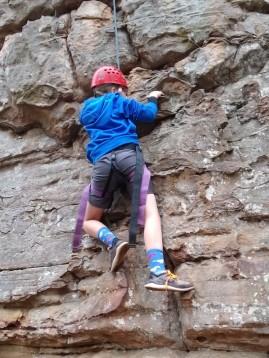 Bo climbing