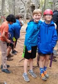 First campout climbing partners